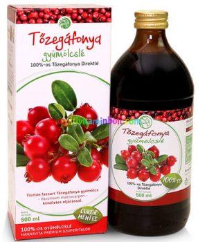Tőzegáfonya Juice (Cranberry, Vörösáfonya) 100%-os Bio 500 ml -  Mannavita