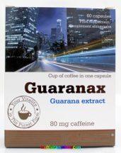 Guaranax 60 db kapszula, standardizált guarana, növényi koffein, élénkítő hatású - Olimp Labs