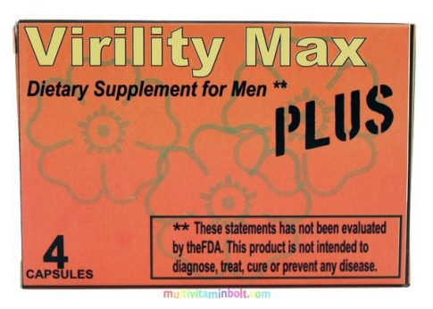 Virility Max Plus 4 db kapszula, potencianövelő, vágyfokozó