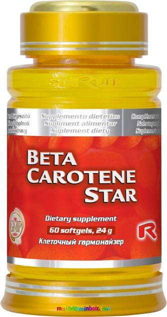 Beta-Carotene Star 60 db - béta-karotint tartalmazó étrend-kiegészítő - StarLife