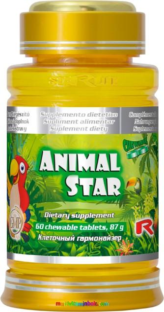 Animal Star 60 db tabletta - gyermekek számára multivitamin - StarLife