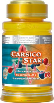 Carsico Star  60 db lágyzselatin kapszula Q10 koenzimmel, E-vitaminnal és L-karnitinnal - StarLife