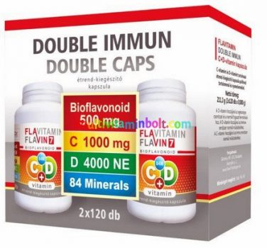 Double Immun C+D vitamin kapszula, 84 mineral, bioflavonoid 2x120 db Flavitamin - Flavin