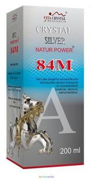 Crystal Silver Natur Power 84M 200 ml ezüst oldat, kolloid - Vita Crystal