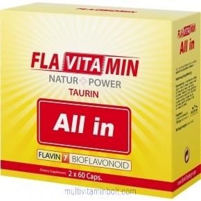 Flavitamin All in kapszula 2x60db kapszula - multivitamin - Flavin7