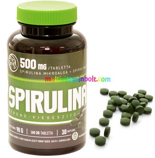Szerves Spirulina alga tabletta db Naturtanya Spirulina visszérből
