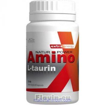 Amino L-Taurin kapszula (250 db) étrend-kiegészítő kapszula polifenol tartalommal - Flavin 7