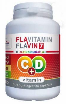 Flavitamin C+D vitamin, C-vitamin 500 mg, D3-vitamin 2000 NE, 100 db kapszula, bioflavonoidok - Flavin7