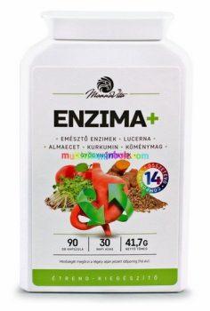 ENZIMA 3x90 db kapszula, gyógynövény kivonatokat, kolint és NAC-ot tartalmazó étrend-kiegészítő, 3 havi adag - Mannavita
