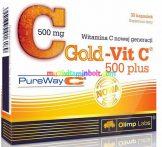 GOLD-VIT C® 500 PLUS - 30 db kapszula, PureWay-C, kolloid formában hasznosuló C-vitamin - Olimp Labs